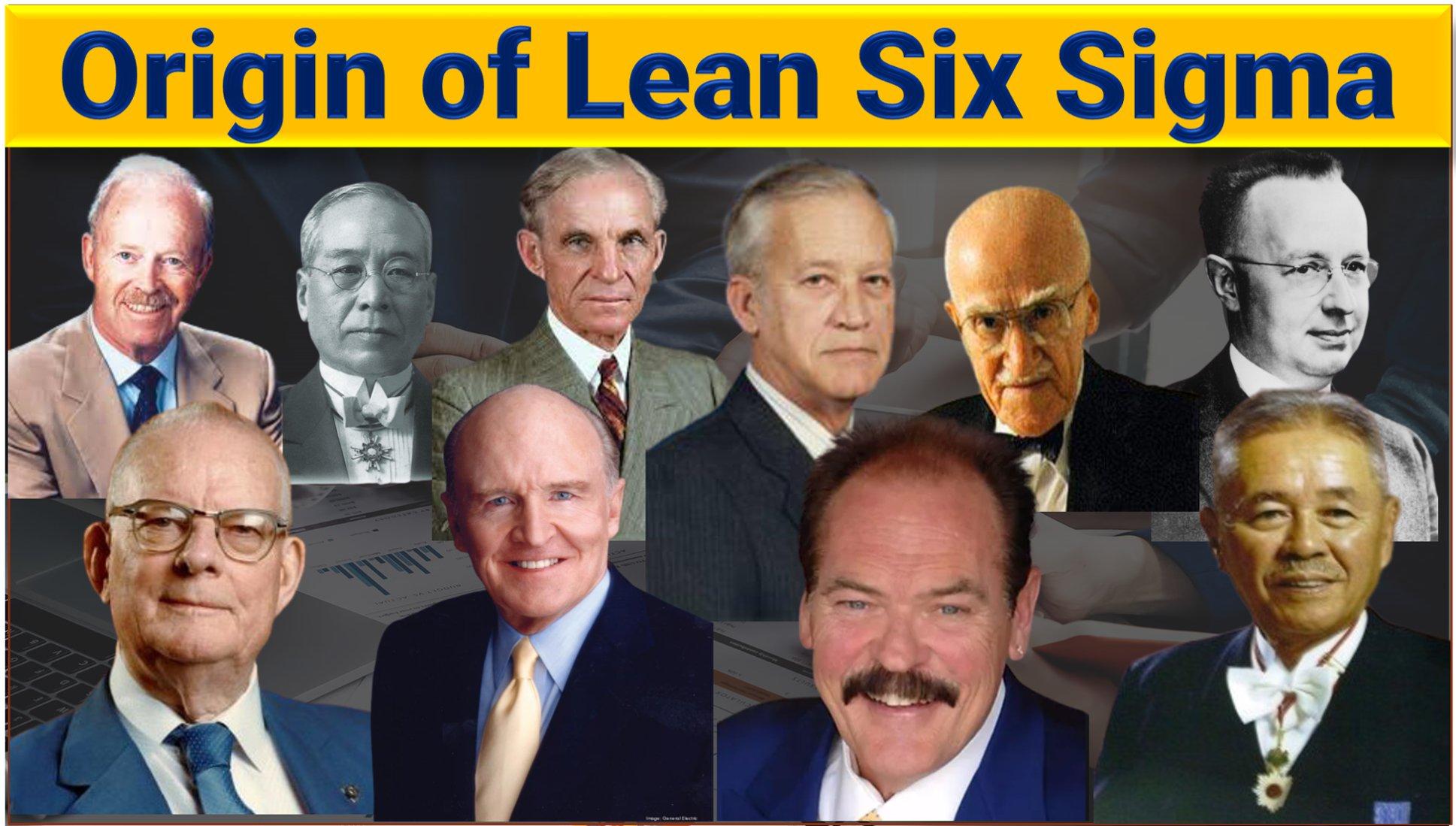 Origin of Lean six sigma